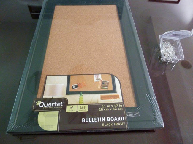 Purchase 2-4 cork boards for your project