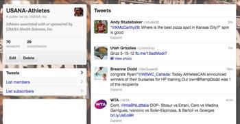 Follow USANA-sponsored athletes on Twitter!