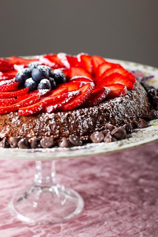 USANA Gluten-Free Chocolate Cake made with pureed garbanzo beans