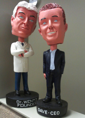 "Dr. Wentz and Dave Wentz bobbleheads will be available at the 2012 USANA International Convention. Also, keep an eye out for a ""vintage"" bobblehead that we can't show here!"