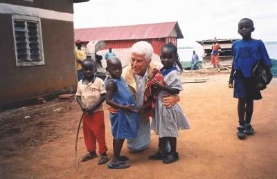 Dr. Wentz with children