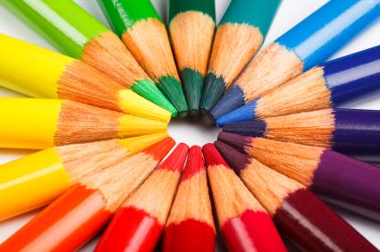 Colored pencil wheel