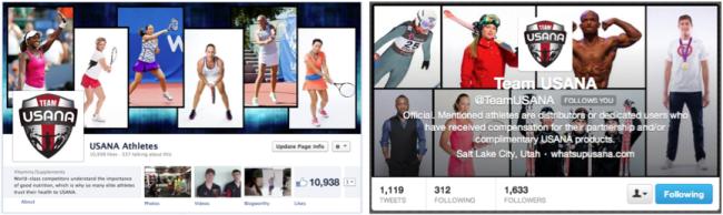 Athletes social media