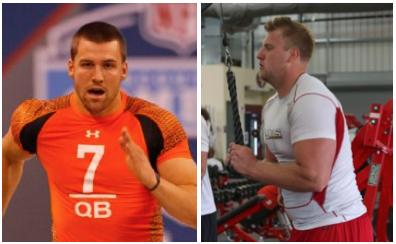 USANA Athletes Chandler Harnish (left) and Luke Marquardt hard at work.