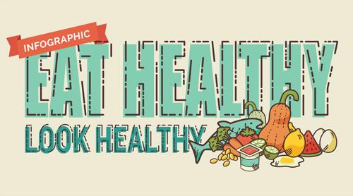 USANA Infographic - Eat Healthy, Look Healthy
