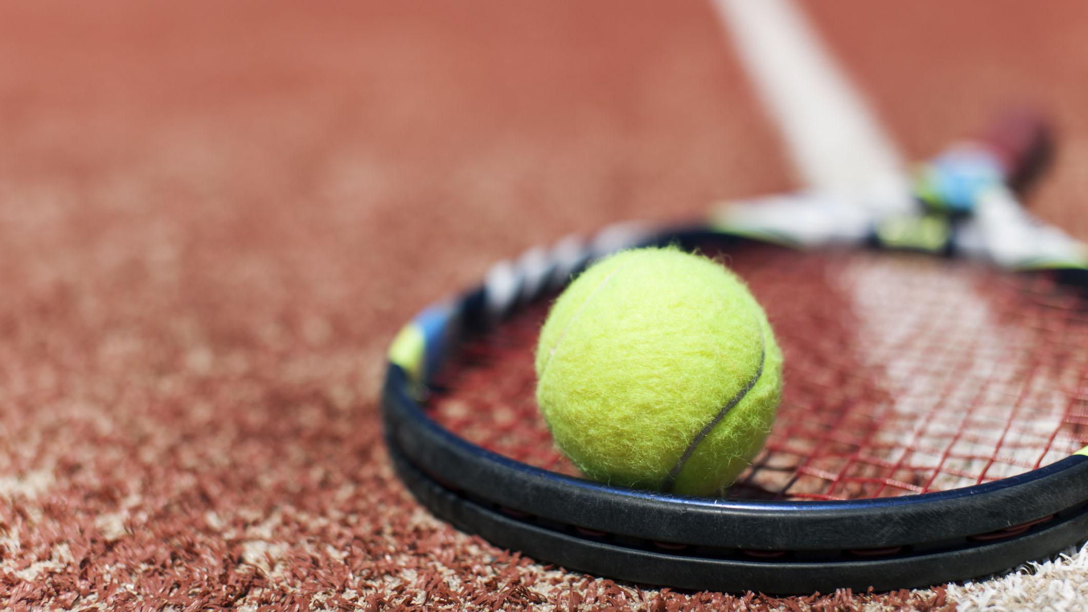 tennis, ball, racquet