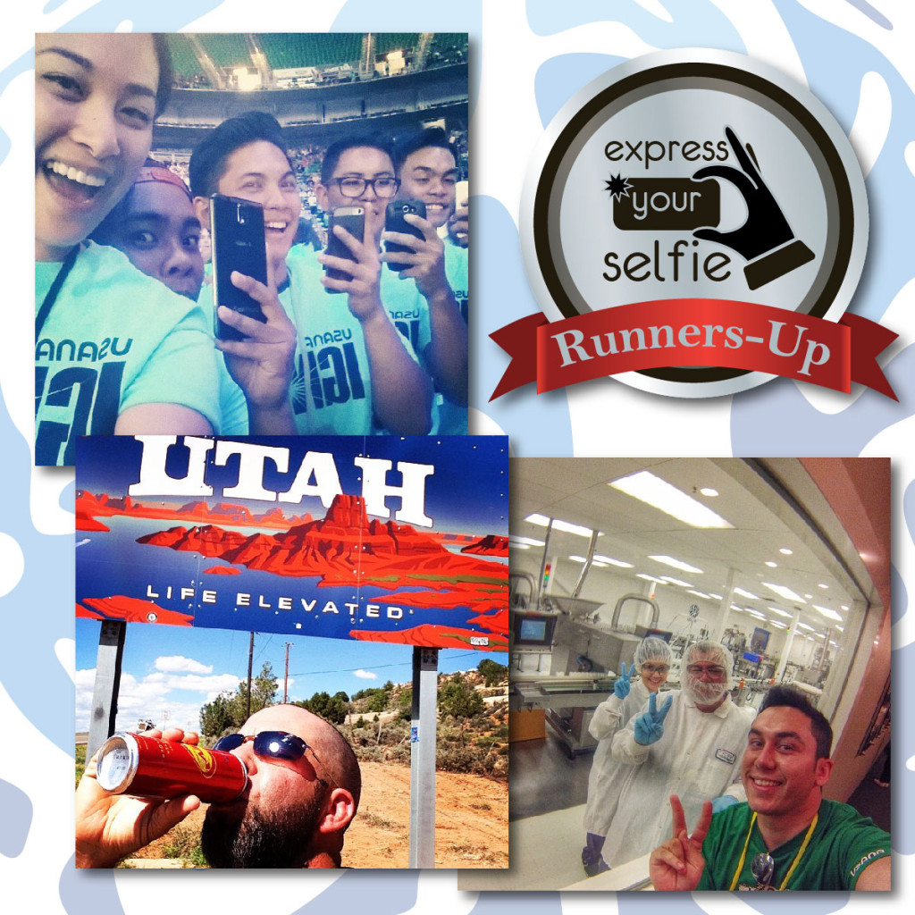 Congratulations to the Express Your Selfie runners-up. Clockwise from top: Charlene, Michel Iniestra, and Eric Soileau.