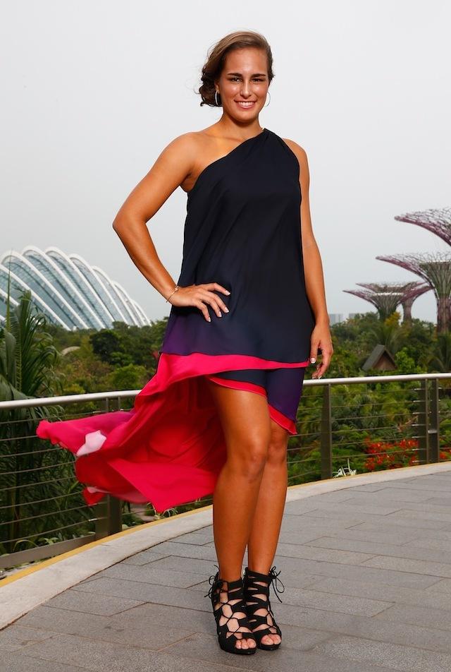 Monica (Getty Images) BNP Paribas WTA Finals: Singapore 2014