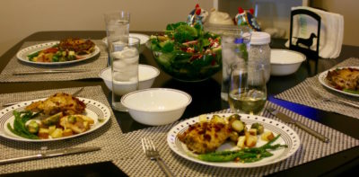 Even with a small group, a dinner party can be a huge success.