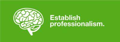 Establishes professionalism