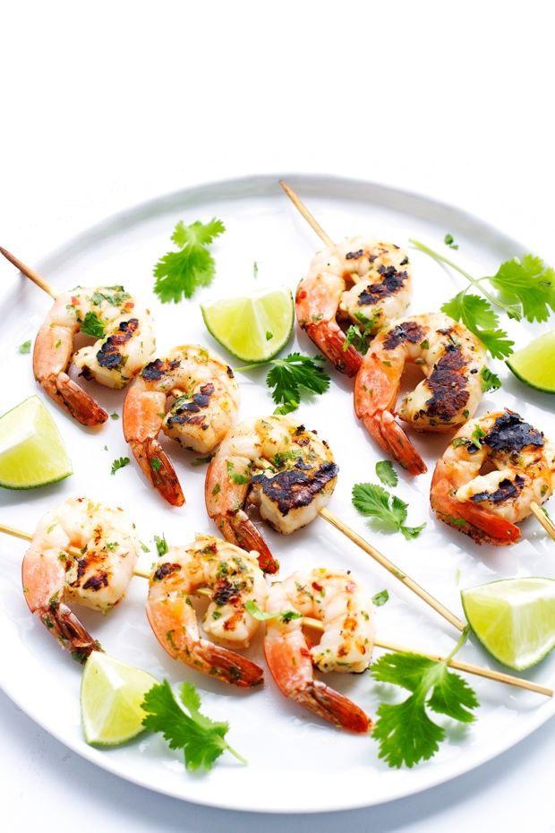 healthy grilling tips: shrimp kebabs