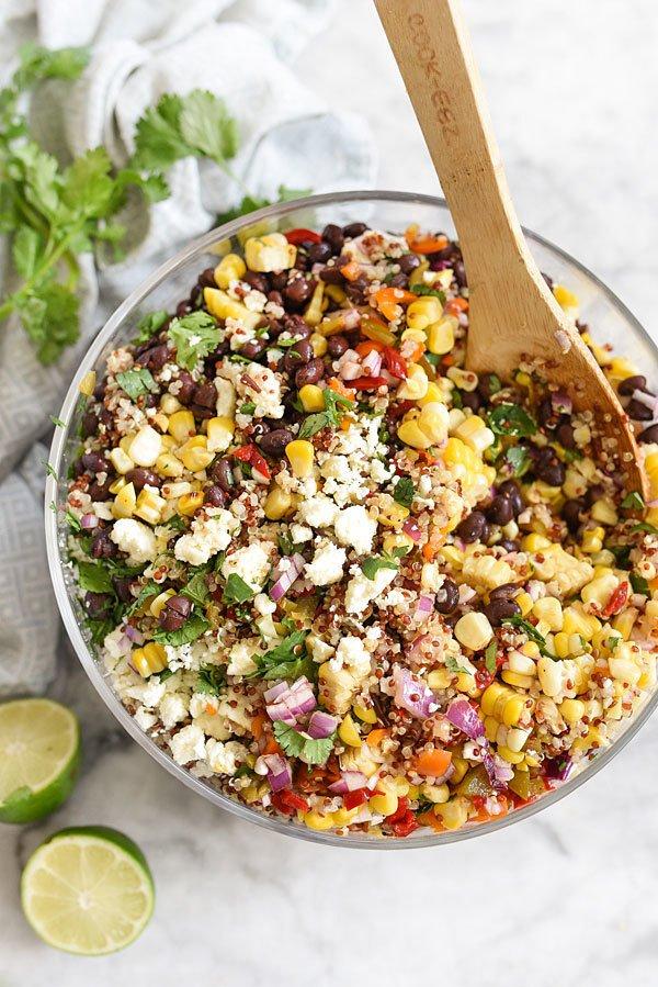 healthy grilling tips: corn salad
