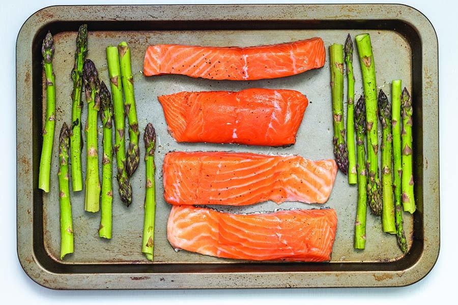 Salmon Asparagus Healthy Gut