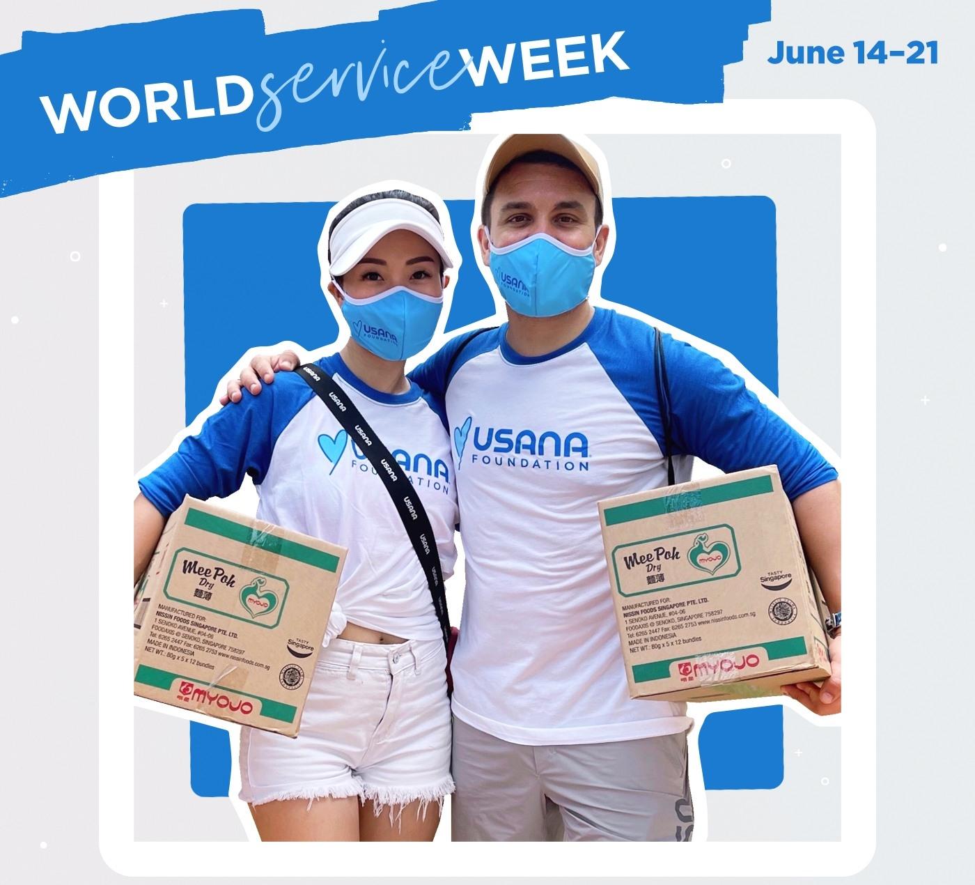 Fabian Ghys World Service Week USANA Associate